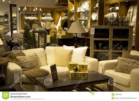 home decor and furnishings luxury furniture home decor store royalty free stock photo