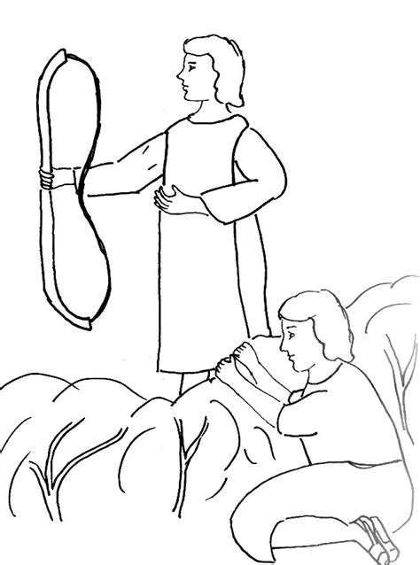bible story coloring page for david and jonathan free