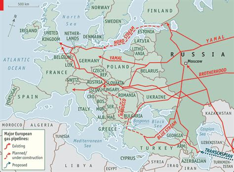 russia europe gas pipelines map a at the throat the economist