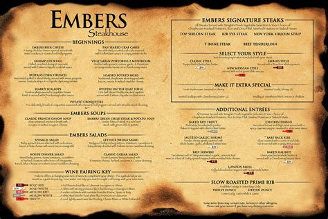 steak house menu image gallery steakhouse menu