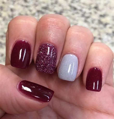 Nexgen Nail Designs cranberry glitter silver nexgen nails nail design nail