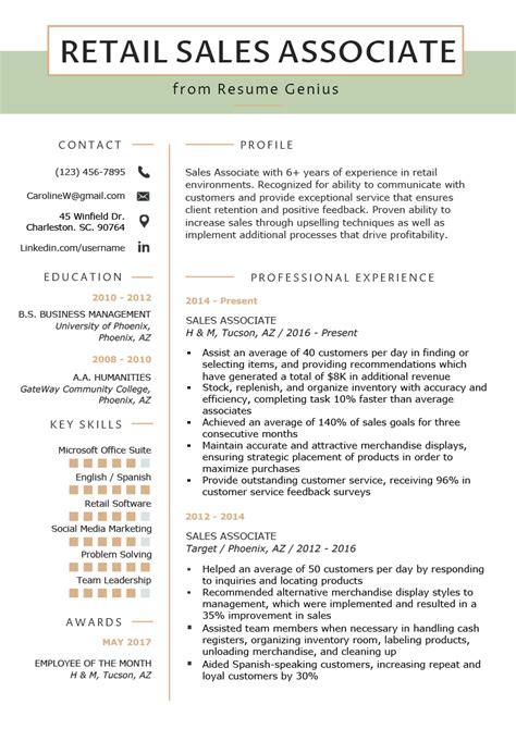 Sales Associate Manager Resume
