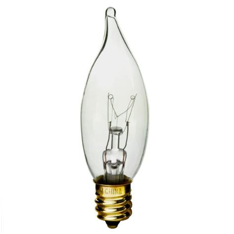 Chandelier Light Bulbs Cheap 60 Watt Ca10 Xenon Krypton Gas Filled Bent Tip 120 Volt Candelabra Base