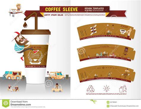 coffee sleeve template coffee sleeve design template stock vector image 56796681