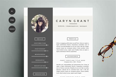 Resume Template 4 Pack   CV Template ~ Resume Templates