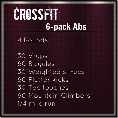 25 best ideas about crossfit ab workout on