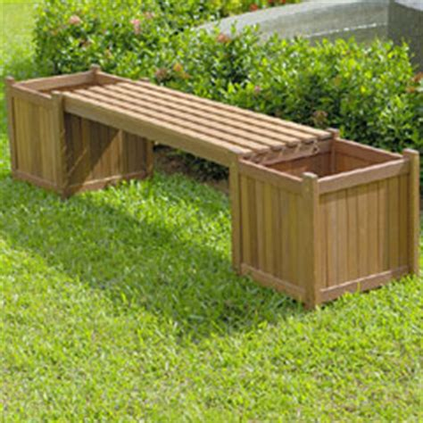 Garden Bench Planter by Planter Box Garden Bench