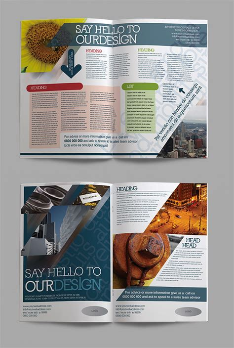 four page brochure template four page corporate indesign brochure template crs