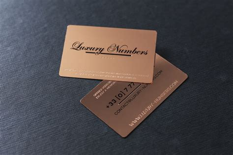 card cards project luxury numbers impression de luxe