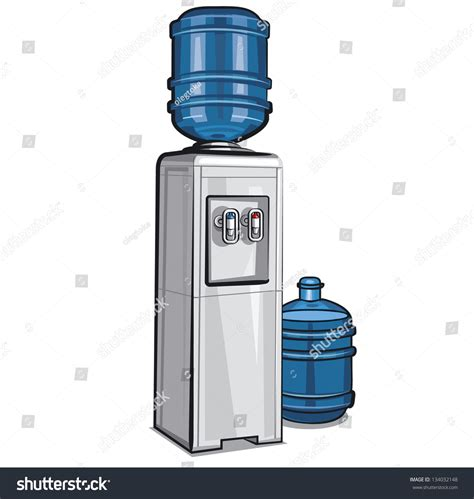 Water Dispenser Vector electric water cooler bottle stock vector 134032148