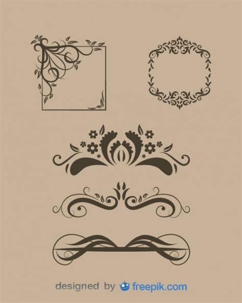 and free testo divisores de texto florales y marcos antiguos en conjunto