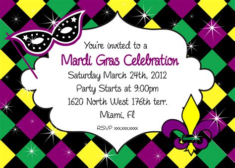 Mardi Gras Party Invitations Templates   Cloudinvitation.com