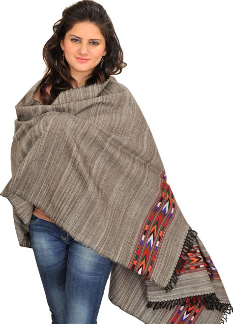 grey thread to weave hairgrey thread to weave hair gray stole from kullu with thread weave and kinnauri woven