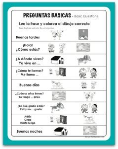 preguntas basicas con will spanish preguntas basicas the wise nest