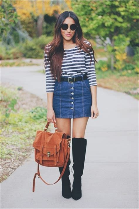 blue denim topshop skirts black forever 21 boots