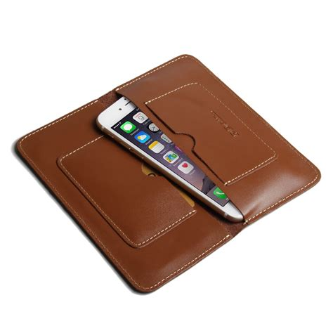 iphone 7 plus leather sleeve wallet brown pdair pouch
