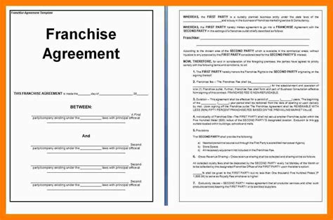 franchise agreement template agreement free franchise agreement template franchise