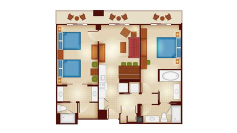 wilderness lodge 2 bedroom villa floor plan copper creek villas and cabins at disney s wilderness