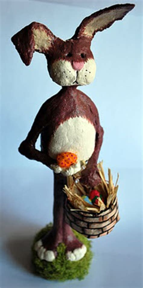 How To Make A Paper Mache Rabbit - paper mache easter bunny guest post ultimate paper mache