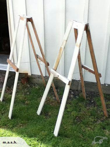 easels rustic and handmade on
