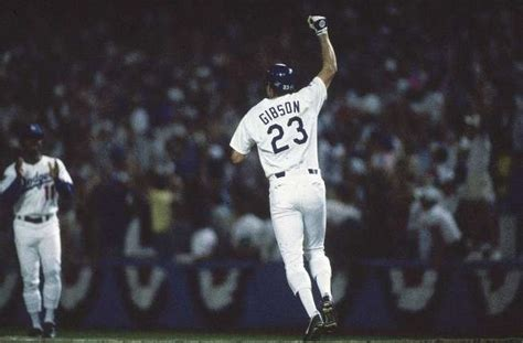 dodgers playoff moment kirk gibson s winning home