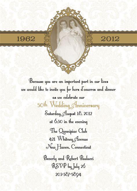 50 wedding anniversary invitations in damask 50th or 25th anniversary wedding invitation diy print