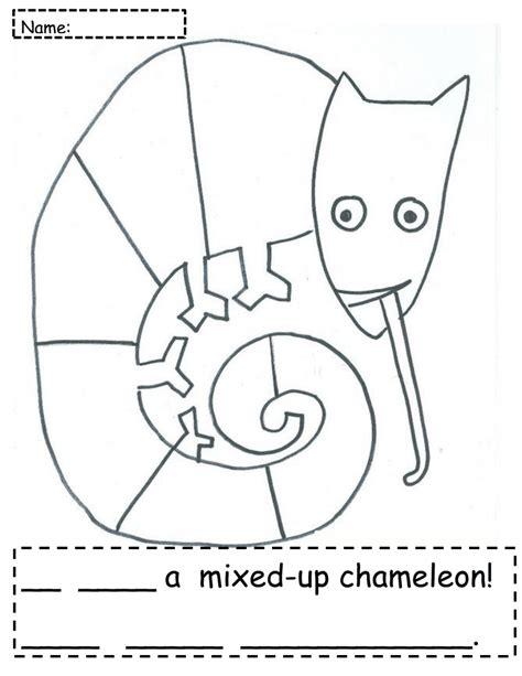 chameleon coloring page pdf mixed up chameleon freebie pdf pdf 2nd grade pinterest