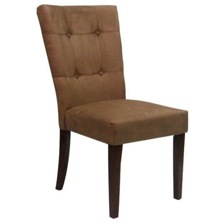 microfiber dining chair button tufted side chair in microfiber set of 2 walmart