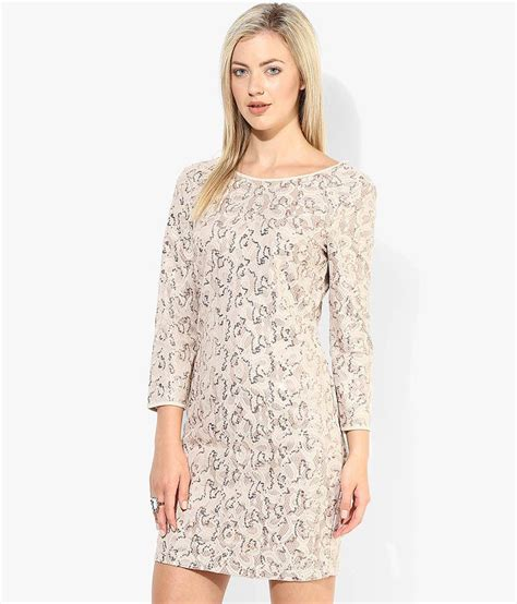 buy only beige neck dress at best prices in india snapdeal