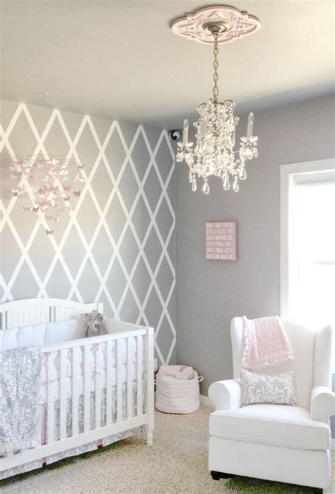 girls bedrooms pinterest beautiful gray and pink nursery features our stella gray