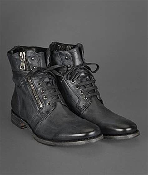 ago black side zip boots by varvatos varvatos ago side zip boot in black for lyst