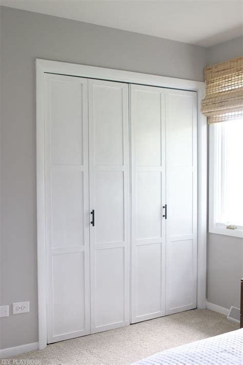 Diy Bi Fold Closet Doors Diy Tutorial Transform Plain Bi Fold Doors Closet Doors Simple Diy And Diy Tutorial