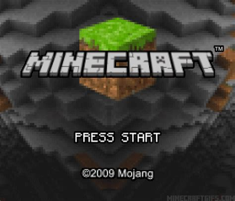 Gif Gaming Minecraft Gameboy Advance Title Screen Minecraftgifs