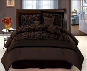 black satin comforter queen new choco brown black bedding flock satin comforter set