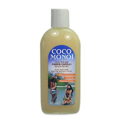 coco olio coco monoi olio solare corpo capelli senza filtro 200 ml