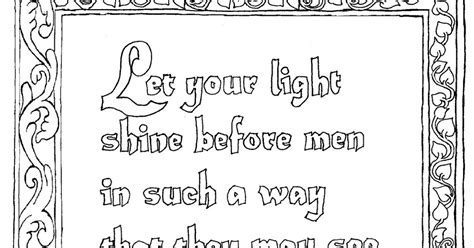 Coloring Pages For Kids By Mr Adron Printable Matthew 5 Coloring Pages Jesus Shine In Me Page
