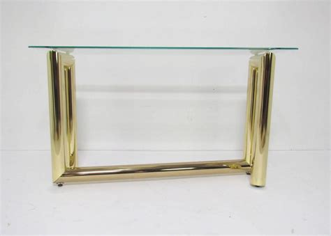 Zig Zag Console Table Mid Century Brass Zig Zag Console Or Sofa Table For Sale