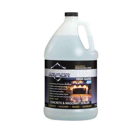 Clear Acrylic Sealer foundation armor ultra low voc 1 gal clear look high