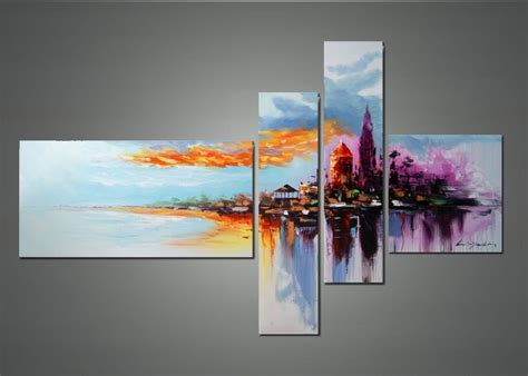 modern paint modern cityscape wall art cityscape abstract art and
