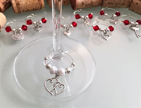 wine bridal shower favors bridal shower favors wine glass charms set of 8