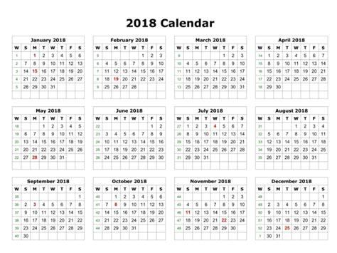 Calendar 2018 All Months 2018 Calendar Printable For Free India Usa Uk