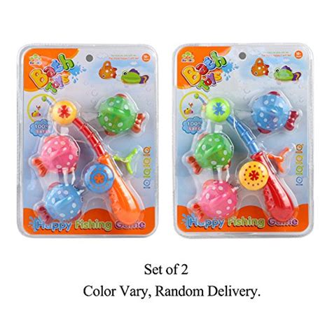 bathtub fishing game bath toy fishing game with cute spotted fish and fishing