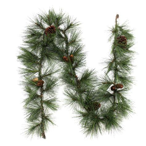 trim a home 174 long needle unlit christmas garland 8 ft