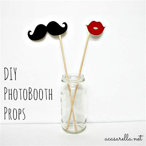 Handmade Photo Booth Props - diy photo booth props a casarella