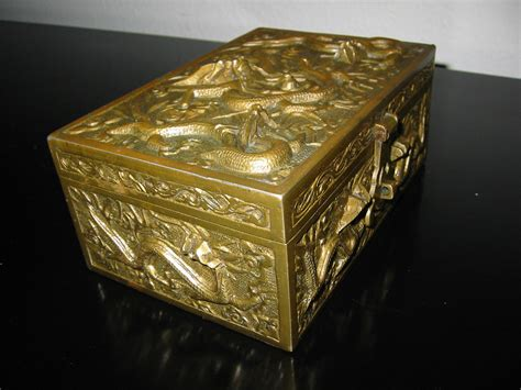 Antiques From China Auction by Brass Majolica Cigar Box For Sale