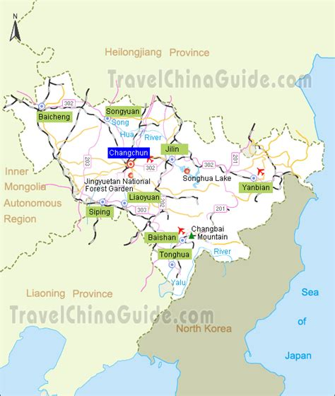 jilin travel guide location map attractions