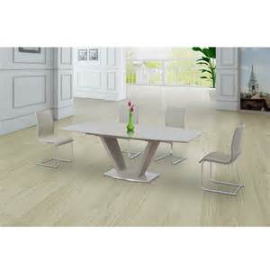 Glass Dining Table And 6 Cream Chairs Extendable Glass Dining Table Shop For Cheap Tables And