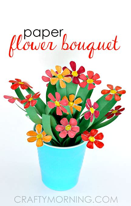 Paper Craft Flowers Bouquet - 3d paper flower bouquet craft for crafty morning
