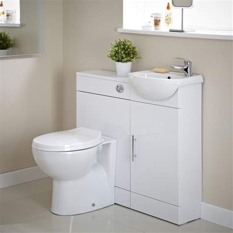 cloakroom bathroom furniture premier white gloss vanity unit and toilet cloakroom pack