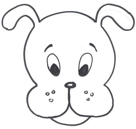 best photos of dog face template dog face coloring pages